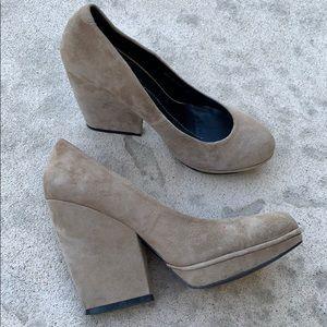 Dolce Vita Cream Beige Suede Platform Heel Size 10